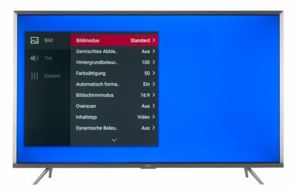 TCL U43P6046 Bildschirmmenü