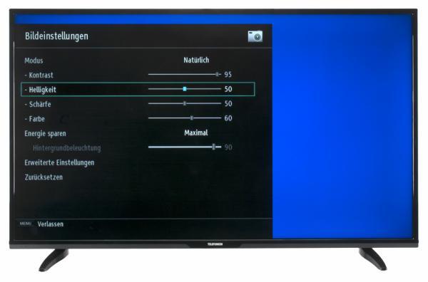 Telefunken XF55D101 Bildschirmmenü
