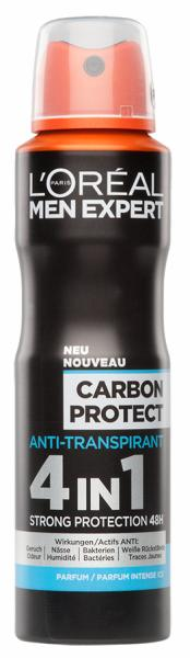 L'Oréal Men Expert Carbon Protect Anti-Transpirant 4 in 1 Strong Protection 48h Hauptbild