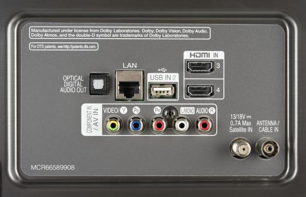 LG 49UK7550 weitere Anschlüsse