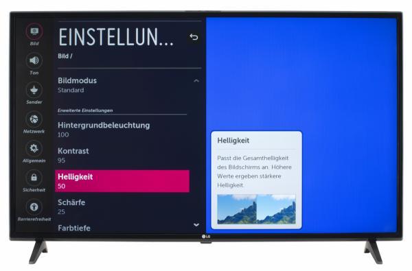 LG 43LK5900 Bildschirmmenü