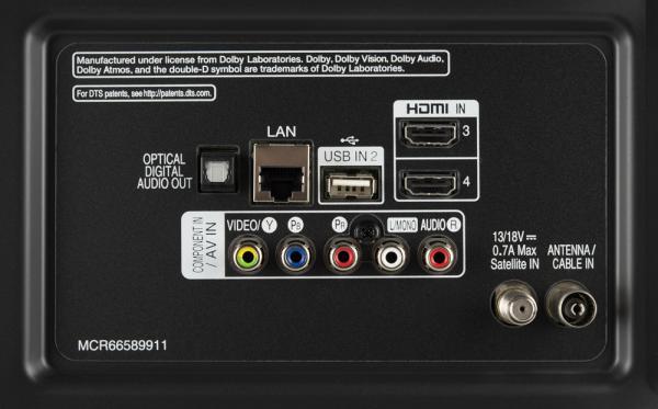 LG 43UK6500 weitere Anschlüsse