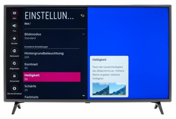 LG 43UK6500 Bildschirmmenü