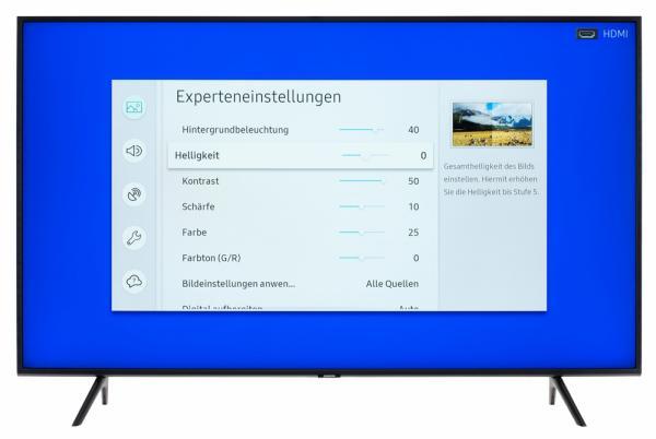 Samsung GQ55Q60R Bildschirmmenü