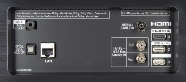 LG OLED55C97LA weitere Anschlüsse