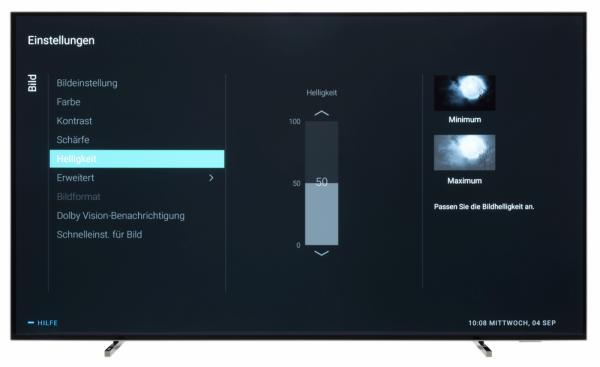 Philips 55OLED804 Bildschirmmenü