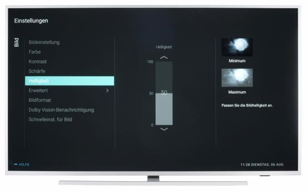 Philips 65PUS7304 Bildschirmmenü