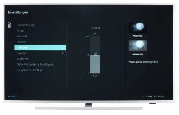 Philips 55PUS7304 Bildschirmmenü