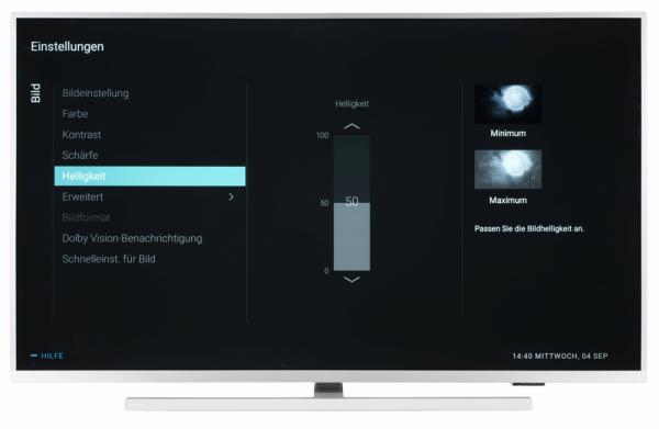 Philips 43PUS7334 Bildschirmmenü