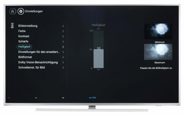 Philips 65PUS6804 Bildschirmmenü