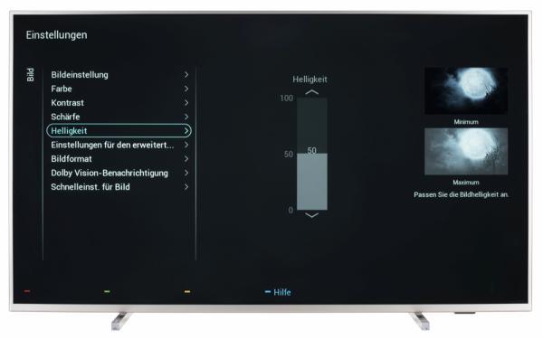 Philips 55PUS6754 Bildschirmmenü