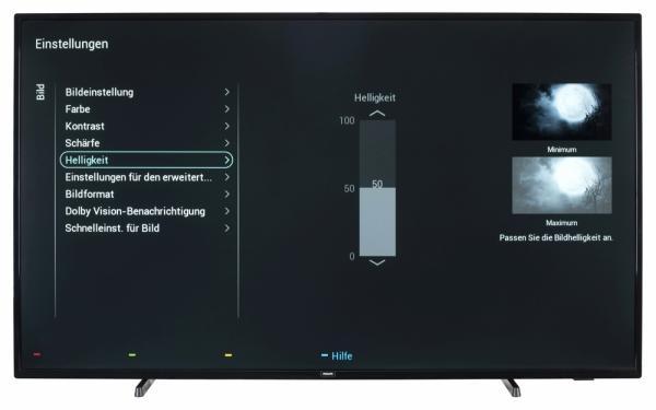 Philips 58PUS6504 Bildschirmmenü