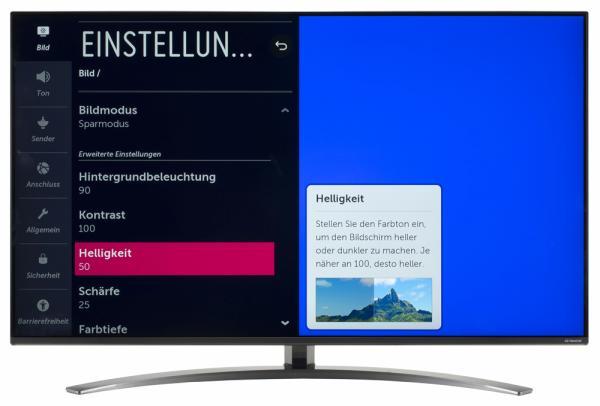 LG 49SM82007LA Bildschirmmenü