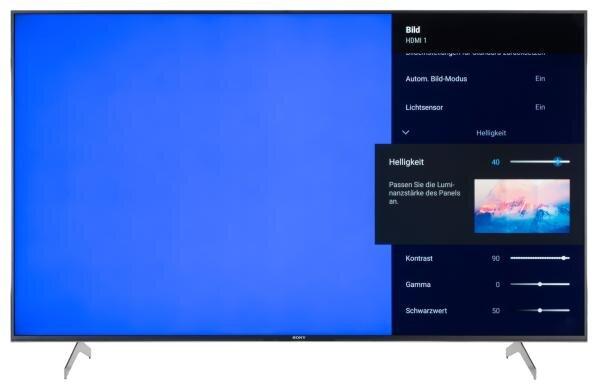 Sony KD-65XH9005 Bildschirmmenü