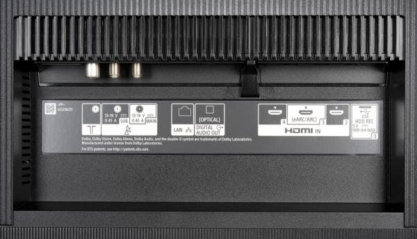 Sony KD-55A8 Bedienelemente