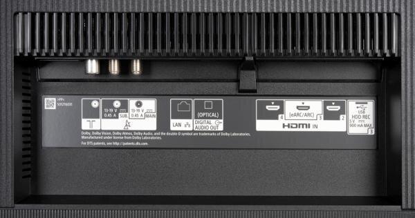 Sony KD-65A8 Bedienelemente