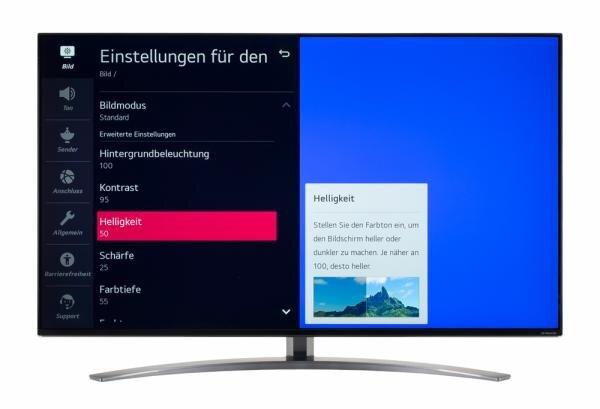 LG 49NANO867NA Bildschirmmenü