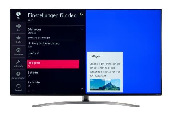 LG 55NANO867NA Bildschirmmenü