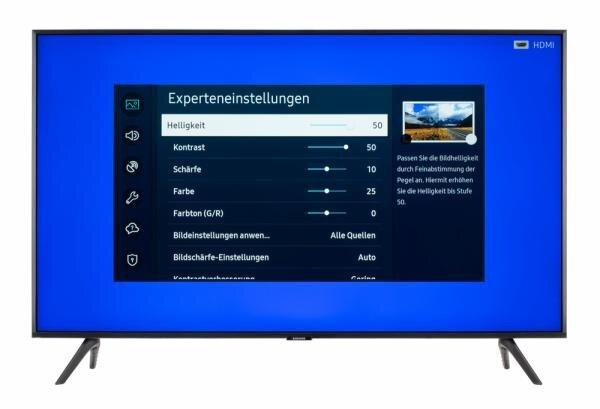 Samsung GU43TU7079 Bildschirmmenü
