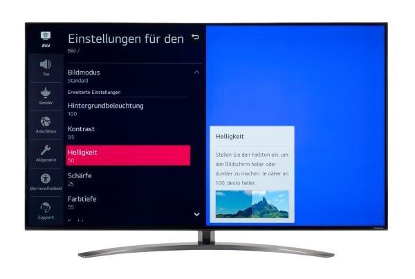 LG 55NANO917NA Bildschirmmenü