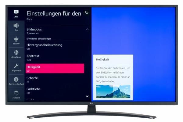 LG 50UN74007LB Bildschirmmenü