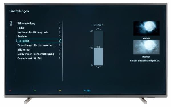 Philips 50PUS7805 Bildschirmmenü