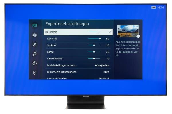 Samsung GQ55Q95T Bildschirmmenü