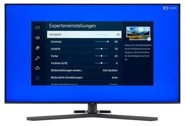 Samsung GU50TU8509 Bildschirmmenü