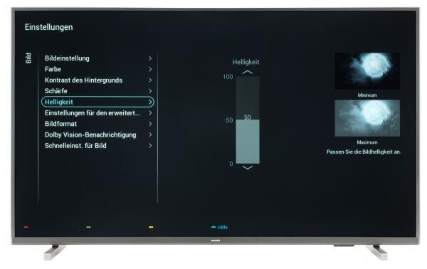 Philips 43PUS7805 Bildschirmmenü