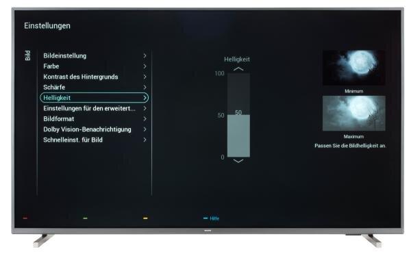 Philips 55PUS7805 Bildschirmmenü