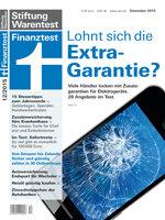Heft 12/2015 Garantieverlängerung für Elektrogeräte: Was der teure Schutz leistet