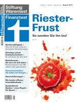 Heft 08/2015 Riester-Rente: Was tun gegen den Rieter-Frust?