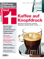 Heft 10/2013 Kaffeemaschinen: Pad gegen Kapsel – Duell der Systeme