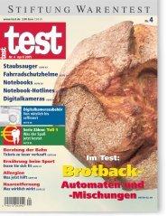 Heft 04/2005 Brotbackautomaten: Gut Brot will Weile haben