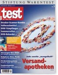 Heft 03/2005 Versandapotheken: Jede zweite mangelhaft