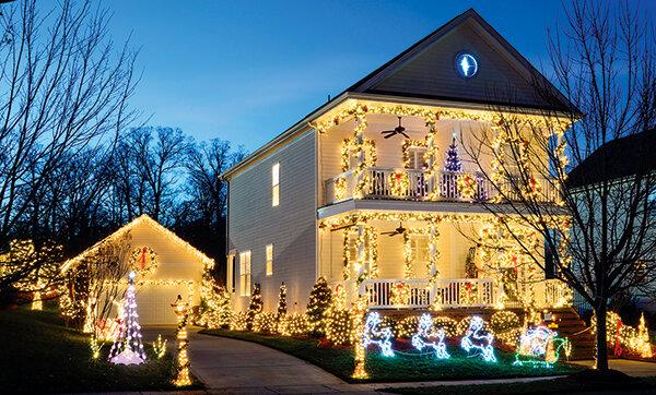 Weihnachtsbeleuchtung Anbringen.Weihnachtsbeleuchtung Am Haus Was Ist Erlaubt Stiftung Warentest