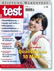 Heft 12/2000 Rotwein: Nicht edel, aber akzeptabel