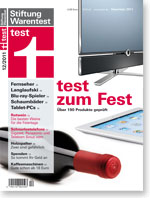 test 12 2011 heft stiftung warentest. Black Bedroom Furniture Sets. Home Design Ideas